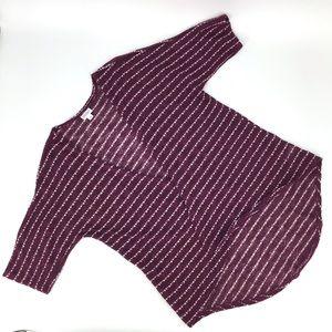 LuLaRoe Lindsay Kimono Sweater, Burgundy, Small